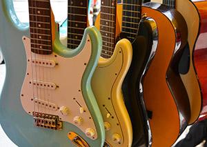 E-Gitarren und Konzertgitarren