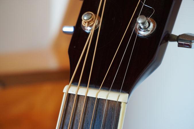 Westerngitarre mit Stahlsaiten