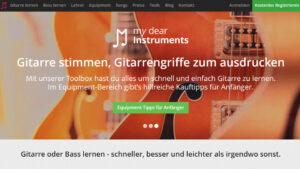E Gitarre online lernen My Dear Instruments